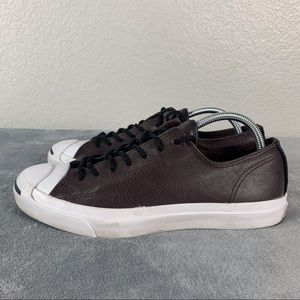 Converse Jack Purcell Brown Leather Lace Up Shoes
